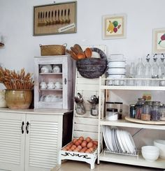 My kampunghouse farmhouse style kitchen Farmhouse Style Kitchen, Kitchen Cart, Kitchen Styling, Home Decor, Decoration Home, Room Decor, Kitchen Carts, Interior Decorating