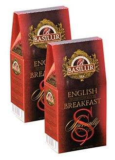 Basilur  Original English Breakfast Tea  UltraPremium Loose Leaf Black Tea  Specialty Classics Collection  Refill Packs for Tin Caddys  100g  352oz per Box Pack of 2 *** You can get more details by clicking on the image.