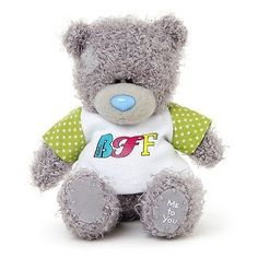 """Me to you - 4"""" bff t-shirt #plush - #tatty #teddy bear - best friends,  View more on the LINK: http://www.zeppy.io/product/gb/2/191691474585/"""