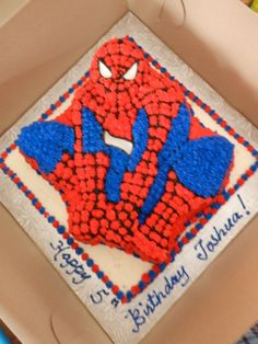 All Butter Cream Spider Man cake
