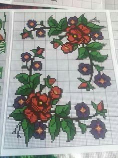 Crochet, Cross Stitch Embroidery, Making Yarn Bracelets, Counted Cross Stitches, Bedspreads, Roses, Dots, Dressmaking, Crochet Hooks