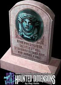 PAPER CRAFT: A simple little paper model kit (FREE) of Leota's tombstone, as seen at Walt Disney World!  Courtesy of Ray Keim....again!  This guy is GENIUS!