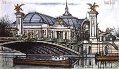 Bernard BUFFET ( 1928 - 1999 ) - Peintre Francais - French Painter Paris, le Grand Palais 1989