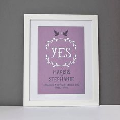 Personalised Engagement Or Wedding Print from notonthehighstreet.com