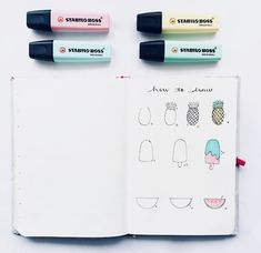 How to draw - summer doodles Do you want to see more posts like this ?? #bulletjournal #bulletjournaling #bujo #journal #journaling…