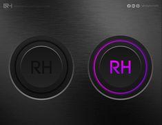 3D Illuminated Buttons - ADOBE ILLUSTRATOR By Ruby Huma on Behance Adobe Illustrator, Behance, Buttons, 3d, Illustration, Illustrations, Plugs