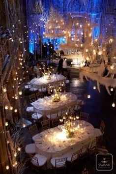 Winter Wonderland wedding reception
