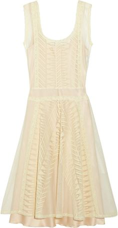 Lace and Cotton-tulle Dress - Lyst