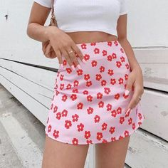 Flower print satin skirts for women summer autumn beach skirts female – cuteshoeswear dress to skirt refashion scallopped skirt fancy skirts outfits casual skirts #skirtshirt #skirtlace #skirtfashion #womensskirtsoutfits Pink Skirt Outfits, Pink Dress, Summer Outfits, Flower Skirt, Floral Mini Skirt, Floral Skirts, Rosa Rock, Short Skirts, Mini Skirts