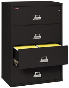 Lovely Espresso Lateral File Cabinet