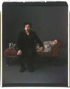 Tim Burton & Helena Bonham Carter by Mark Ellen Mark, 2012