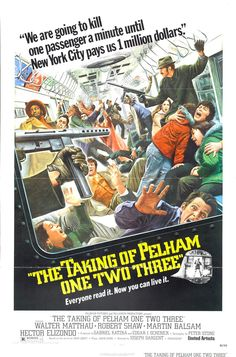 The Taking of Pelham One Two Three is a thriller film directed by Joseph Sargent and starring Walter Matthau, arriving October 2, 1974.