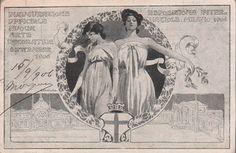 EXPO MILANO 1906. Cartolina per l'inaugurazione del nuovo padiglione dell'Arte Decorativa