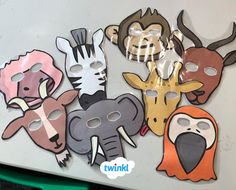 Who could live without great role play resources? Fantastic fun and perfect for encouraging your children to really take on their roles, role play masks are an absolute must for any theme. Eyfs Activities, Animal Activities, Book Activities, Teaching Resources, Activity Ideas, Handas Surprise, Rumble In The Jungle, Story Sack, African Animals