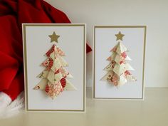 Origami Weihnachtsbaum Karte Oriental gefaltet von AnniebelloPaper