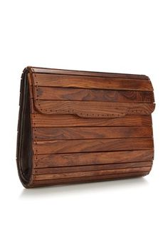 Panel Wooden Bag, French Connection £125. Can anyone get me this? Pretty please?
