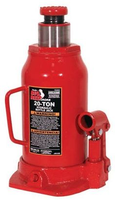 Torin T92003 20 Ton Hydraulic Bottle Jack by Torin Jack. $39.88. The Torin 20 Ton Hydraulic Bottle Jack features a superior quality steel frame with a safe ratcheting head and a high quality glide action pressure pump which makes it a must for every auto shop and home. This powerful jack makes big loads easy to lift and lifts to a maximum height of 15.25 inches. Weight capacity is 20 tons.