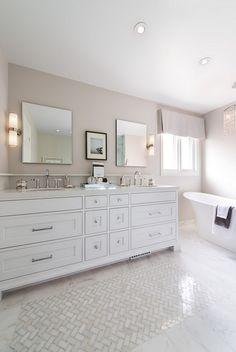 "2016 Paint Color Ideas for your Home""Benjamin Moore Edgecomb Gray"" Jane Lockhart Interior Design. Bathroom Tile Designs, Bathroom Floor Tiles, Modern Bathroom Design, Bathroom Ideas, Tile Floor, Shades Of Grey Paint, Gray Paint, Neutral Paint, Neutral Colors"