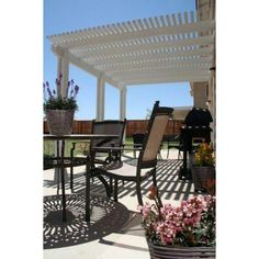We sell aluminum awnings patio covers lattice carports window metals building products 14 ft x 10 ft aluminum attached open lattice patio cover 1261006701014 the home depot solutioingenieria Gallery