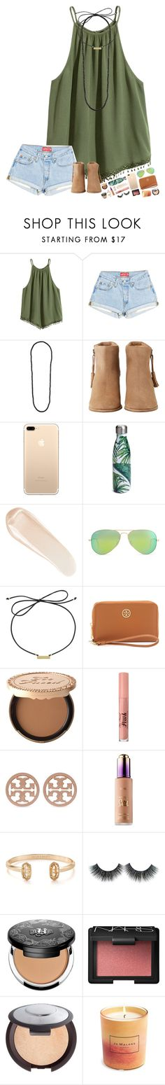 """""""c o a c h e l l a v I b e s"""" by hopemarlee ❤ liked on Polyvore featuring Dorothy Perkins, HOWSTY, S'well, NARS Cosmetics, Ray-Ban, Laundry by Shelli Segal, Tory Burch, Too Faced Cosmetics, Kendra Scott and Kat Von D"""