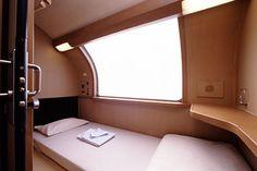 "Interior of JR sleeper train ""Sunrise"". I spent almost 10-hours from Takamatsu to Yokohama. It was very comfortable."