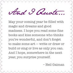 May your coming year be filled with magic...