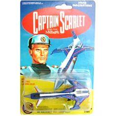 Avião do seriado Capitão Escarlate (Adam) Captain Blues Spectrum Jet Liner - Arte em Miniaturas