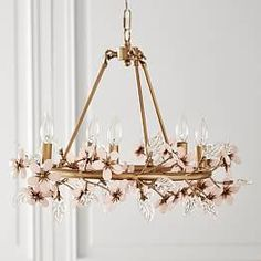 Find products and baby stuff at Pottery Barn Kids. Shop the baby shop and discover baby bedding, furniture, essentials and more. Girls Chandelier, Nursery Chandelier, Capiz Chandelier, Painted Chandelier, Flower Chandelier, Pottery Barn Chandelier, Bedroom Chandeliers, Flower Lamp, Child Room