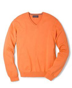 Supima® V-Neck Sweater,$79.50    damn expensive.