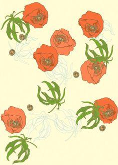 poppy & leaves