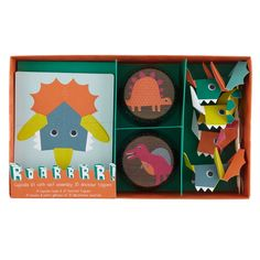 From party bags to party hats, our Roarrrr! dinosaur Party Collection includes everything you need to, well, party. Items feature a prehistoric design from Meri Meri and can be purchased as part of a Deluxe or Basic Party Kit.