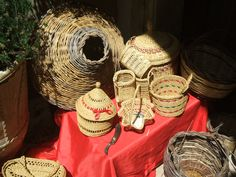 homemade basket from Salento - to use for welcome gifts in room