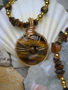 Tiger's Eye Magnetic Hematite Necklace with by WholisticBlessings