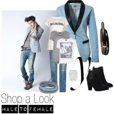 """Shop a Look: Male to Female #2"" by mello-mix on Polyvore"