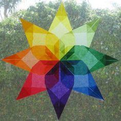 Waldorf Window Star Paper from Bella Luna Toys.
