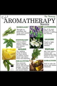 Aromatherapy good to know!!!