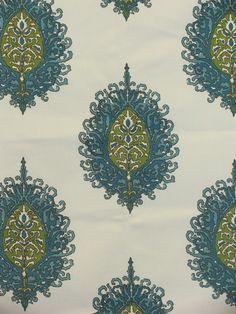 Bethesda Aqua - www.BeautifulFabric.com - upholstery/drapery fabric - decorator/designer fabric