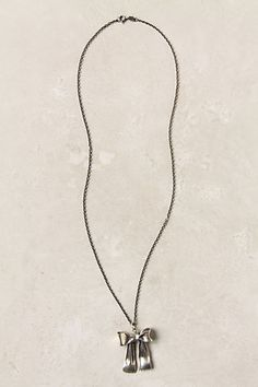 Gleaming Ribbon Necklace #anthropologie