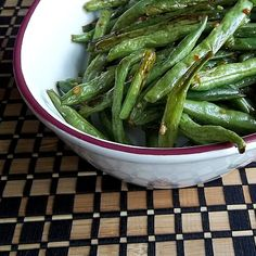 Asian Roasted Green Beans - so yummy!!