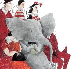 Amazing children book illustrations by Carll Cneut Elephant Illustration, Children's Book Illustration, Book Illustrations, Collages, Japanese Ink Painting, Little Elephant, Elephant Elephant, Children's Picture Books, Love Art