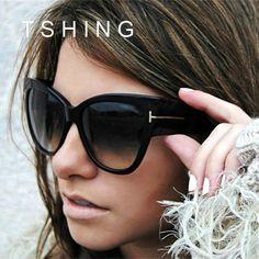 d4ff68d6470 Fashion Ladies Lunettes de soleil d Oeil de Chat   Marque Concepteur UV400 Lunettes  De