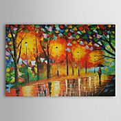 Hand Painted Oil Painting Landscape With Stre... – USD $ 49.99