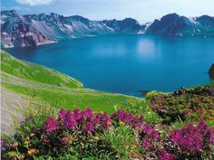 Heaven Lake (summer), White Summit Mountain (the spiritual origin of Korea), HN, KOREA Oh The Places You'll Go, Places To Travel, Places To Visit, Travel Destinations, Beautiful World, Beautiful Places, Beautiful Scenery, South Korea Travel, North Korea