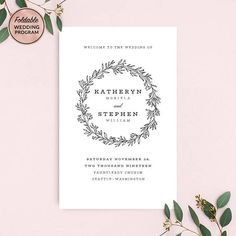 Wedding Program Booklet Template, Folded Wedding Programs, Classic ...