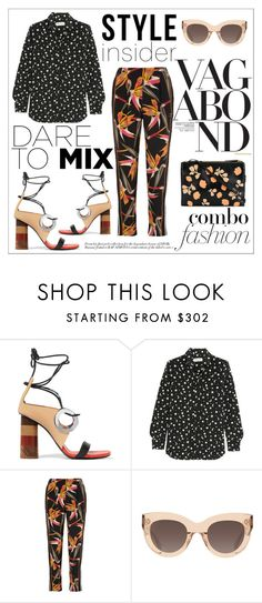 """Summer of Prints"" by neon-fox ❤ liked on Polyvore featuring Vagabond, Proenza Schouler, Yves Saint Laurent, Fendi, CÉLINE and Marni"