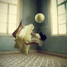Photo Manipulations by Lara Zankoul    (swimming through the air - i've had dreams like this)