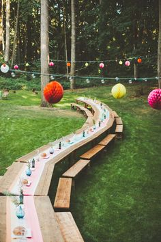 Beautiful idea for farm tables, picnic tables, even folding tables at a casual outdoor wedding. Photography By / http://paigejones.co,Event Design Styling By / http://aandbstyle.com
