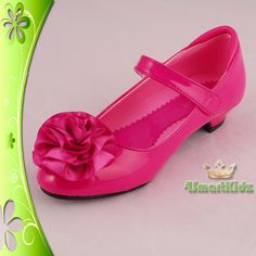 hot pink flower girl shoes
