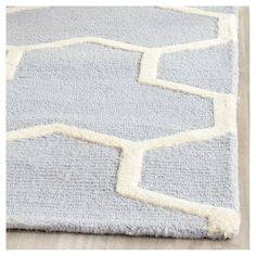 Delmont Texture Wool Rug - Light Blue / Ivory (6' X 6' Square) - Safavieh, Light Blue/Ivory