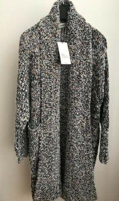 5b03cef5 NWT ZARA KNIT COAT MULTICOLORED THREAD Sequins Long Sweater Size M Ref.6873/144  #ZARA #Cardigan #Casual